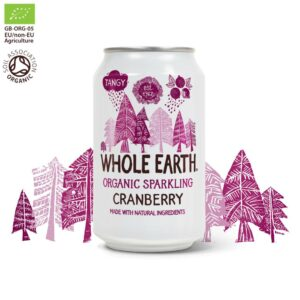 Whole Earth Organic Sparkling Cranberry Drink 330 ml