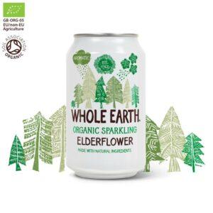 Whole Earth Organic Sparkling Elderflower Drink 330 ml