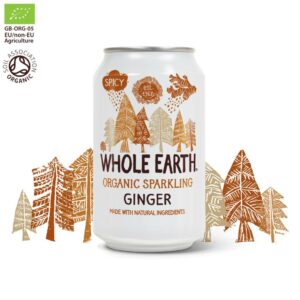 Whole Earth Organic Sparkling Ginger Drink 330 ml