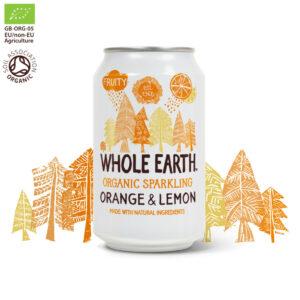 Whole Earth Organic Sparkling Orange & Lemon Drink 330ml