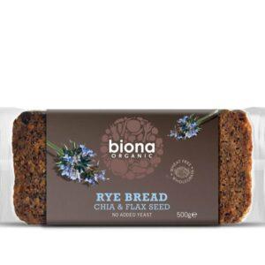Biona Rye Bread with Chia & Flax 500 gr
