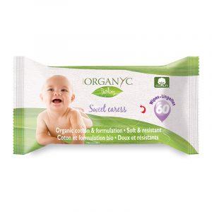 Organ(y)c - Baby Wipes 100% organic cotton, 60 pcs