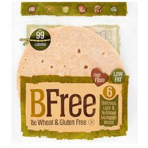 BeFree Multigrain Wraps 6 x 42 gr Gluten Free