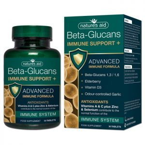 Natures Aid – Beta-Glucans Immune Support+ 30 tablets