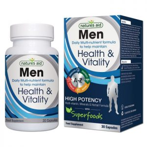 Natures Aid – Men Health & Vitality Multi-Vitamins & Minerals 30 capsules