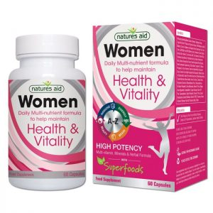 Natures Aid – Women Health & Vitality Multi-Vitamins 60 capsules