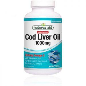 Natures Aid – Cod Liver Oil 1000mg 90 softgels
