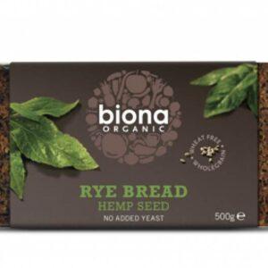 Biona Rye Bread with Hemp Seeds 500 gr