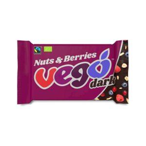Vego – Nuts & Berries Dark Chocolate Bar 85 gr