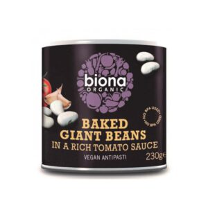 Biona – Baked Giant Beans in tins 230 gr