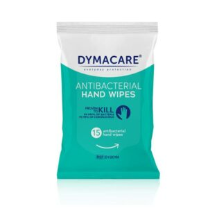 Dymacare – Antibacterial Hand Wipes 15pcs