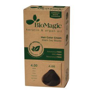 BioMagic Keratin & Argan Oil Hair Color Cream – 4.0 Brown