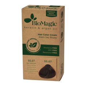 BioMagic Keratin & Argan Oil Hair Color Cream – 55.07 Intense Chocolate Brown
