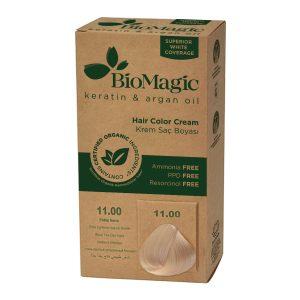 BioMagic Keratin & Argan Oil Hair Color Cream – 11.00 Extra Lightened Natural Blonde