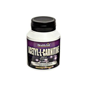 Health Aid – Acetyl-L-Carnitine 550mg 30 tablets