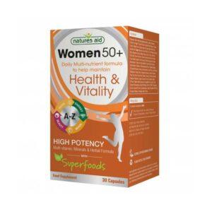 Nature's Aid – Women's 50+ Multi-Vitamins & Minerals 30 capsules