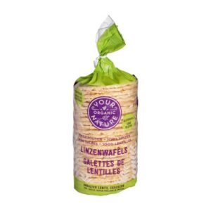 Your Organic Nature – Lentil Crackers Unsalted 100gr