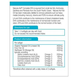 Nature's Aid – Complete EFA (Omega 3, 6 + 9) 1200mg 90 softgels
